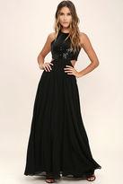 LuLu*s Nothin' But Love Black Sequin Maxi Dress