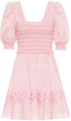 Jonathan Simkhai Floral-print cotton minidress