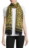 Versace Stola Printed Silk Scarf