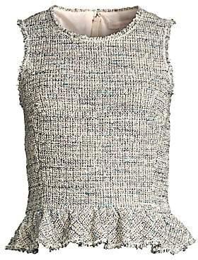 Rebecca Taylor Women's Tweed Peplum Top