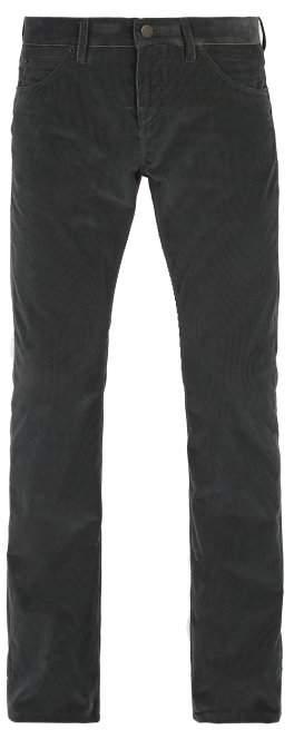 Burberry Slim Leg Cotton Corduroy Trousers - Mens - Grey