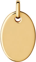 Links of London Narrative yellow-gold vermeil small oval disc pendant