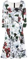 Erdem Toni Floral-printed Jersey Dress