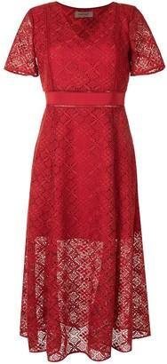 Twin-Set Crocheted Lace Midi Dress