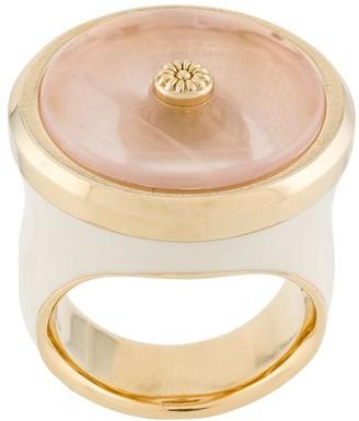 Lanvin Flower Detail Quartz Ring