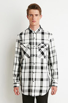 Forever 21 Longline Plaid Shirt