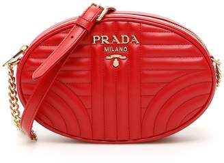 Prada Oval Diagramme Logo Crossbody Bag