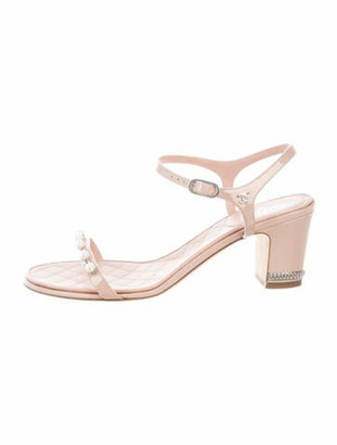 Chanel 2016 Faux Pearl Accents Sandals