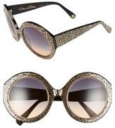 Oscar de la Renta Women's 54Mm Round Sunglasses - Black