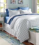 L.L. Bean 280-Thread-Count Pima Cotton Percale Comforter Cover, Windowpane