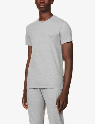 Emporio Armani Logo print cotton-blend T-shirt
