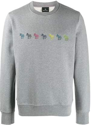 Paul Smith zebra embroidered sweatshirt