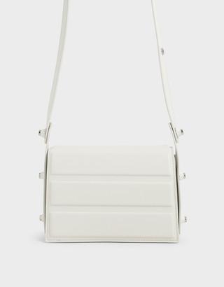 Charles & Keith Eyelet-Embellished Top Handle Bag