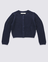Marks and Spencer Pure Cotton Crochet Cardigan (1-10 Years)