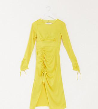 Vestire exclusive sweetest thing midi dress in lemon