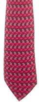 Hermes Printed Silk Tie