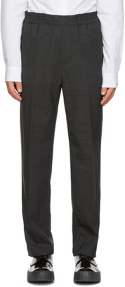 Acne Studios Grey Wool and Mohair Elastic Waist Trousers