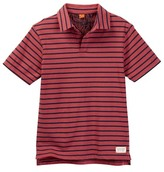 Tailor Vintage Sailor Stripe Johnny Collar Polo Tee (Little Boys & Big Boys)