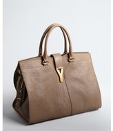 Yves Saint Laurent chestnut leather 'Cabas Chyc' tote bag