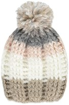 Forever 21 Striped Knit Pom Beanie