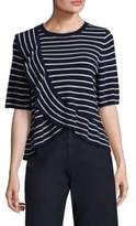 Joie Jayni Striped Ruffle Pullover
