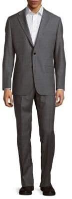 Hickey Freeman Classic-Fit Milburn Wool Striped Suit