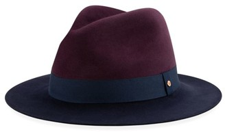 New Era Colorblock Wool Wide-Brim Fedora Hat