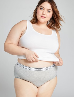 Lane Bryant Cotton Full Brief Panty with Wide Waistband