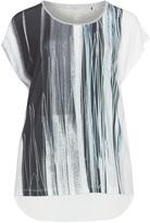 Via Appia Plus Size Glittery stripe t-shirt