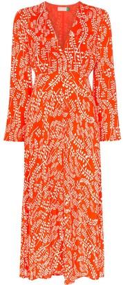Rixo Sonja floral print midi dress