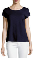 Eileen Fisher Short-Sleeve Organic Cotton Top