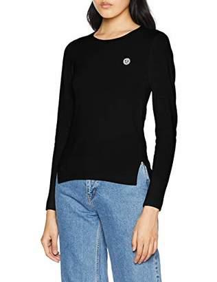 Armani Exchange Women's Blinking Logo Round Neck Sweatshirt,Small
