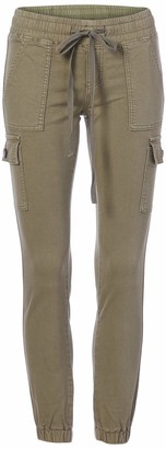 CG JEANS High Rise Cargo Pocket Jeans Joggers for Women Camo & Solids