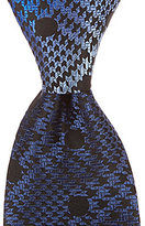 Murano Big & Tall Mixed Houndstooth Dot Traditional Silk Tie