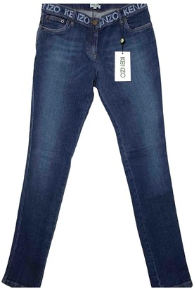 Kenzo Blue Cotton - elasthane Jeans for Women