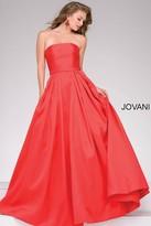 Jovani Strapless A-Line Prom Ballgown 39243