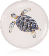 Fitz & Floyd Cape Coral Collection Turtle Accent Plate