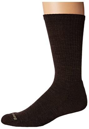 Smartwool Heathered Rib (Charcoal) Men's Crew Cut Socks Shoes