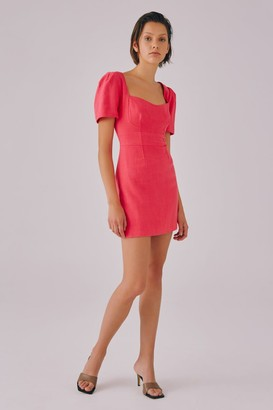 C/Meo CLEAR MESSAGE MINI DRESS hot pink