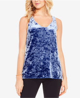 Vince Camuto Crushed-Velvet Tank Top