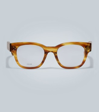 Celine Rounded clear lense glasses