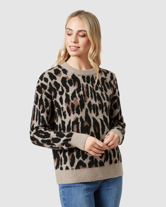 French Connection Animal Intarsia Knit
