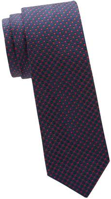 Saks Fifth Avenue Made In Italy Silk Dot Tie