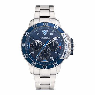 Nautica Men's Quartz Stainless Steel Strap Silver 22 Casual Watch (Model: NAPBHS019)