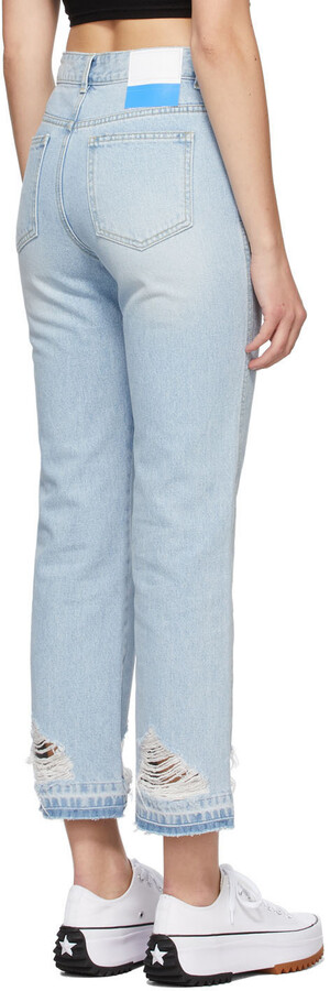Thumbnail for your product : Sjyp Blue Sideline Jeans