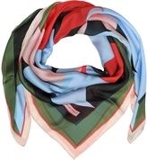 Emilio Pucci Multicolor Floral Print Silk Shawl