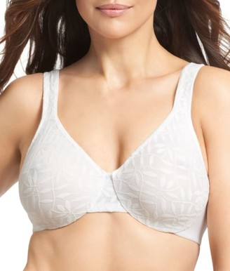 Olga Sheer Leaves Minimizer Bra
