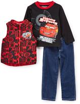 Children's Apparel Network Cars 'Blazin' Speed' Zip-Up Vest & Pants Set - Boys