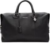 Alexander McQueen Black Striped Strap Duffle Bag