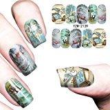 Binmer(TM) Nail Art Stamper Gel Tips DIY Stamping Drawing Image Template Stickers (K)